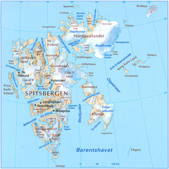 Svalbard Physical Map
