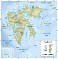 Svalbard Physical Map Svalbard Norway Mappery - Norway map topo
