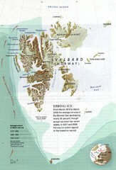 Svalbard's Ebbing Ice Map