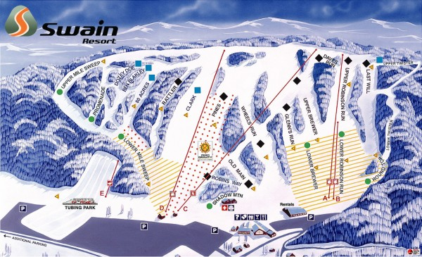 Swain Ski Trail Map