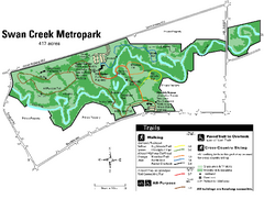 Swan Creek Metropark Map