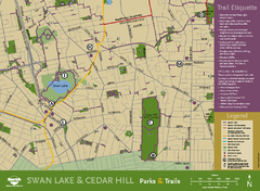 Swan Lake & Cedar Hill Area Map