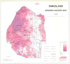 Swazilad soil erosion Map