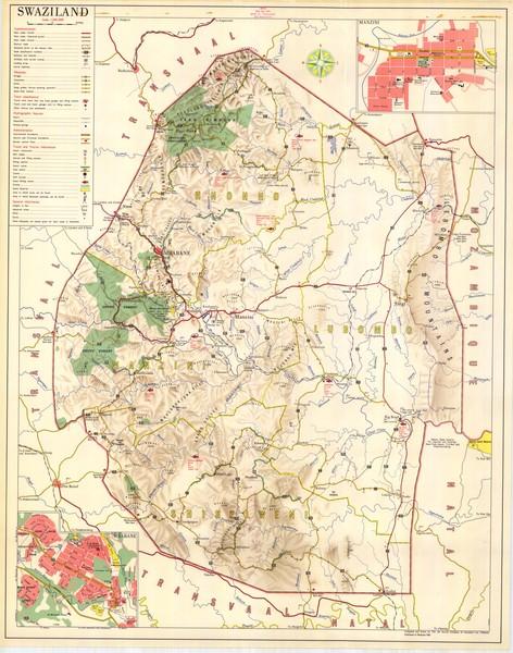 Swaziland Map • mappery