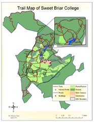 Sweet Briar College Trail Map