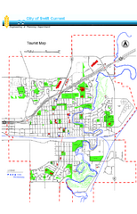 Swift Current Tourist Map