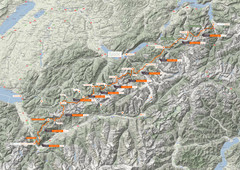 Swiss Alps Trail Map