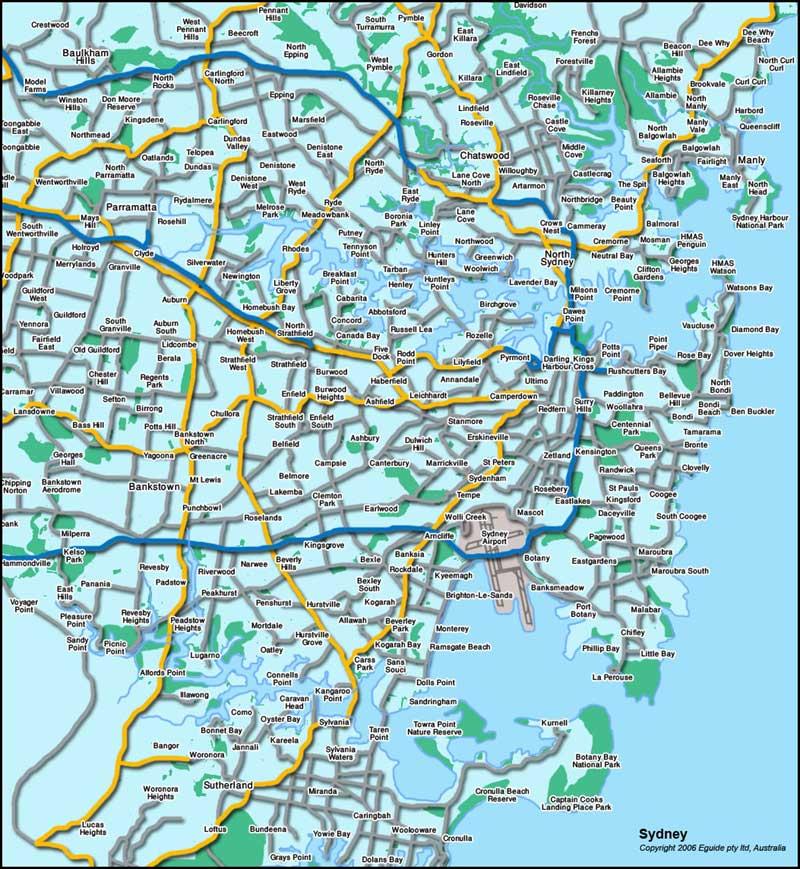 Sydney Australia Tourist Map Sydney Australia mappery – Sydney Tourist Map