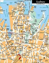 Sydney Australia Map City.Real Life Map Collection Mappery