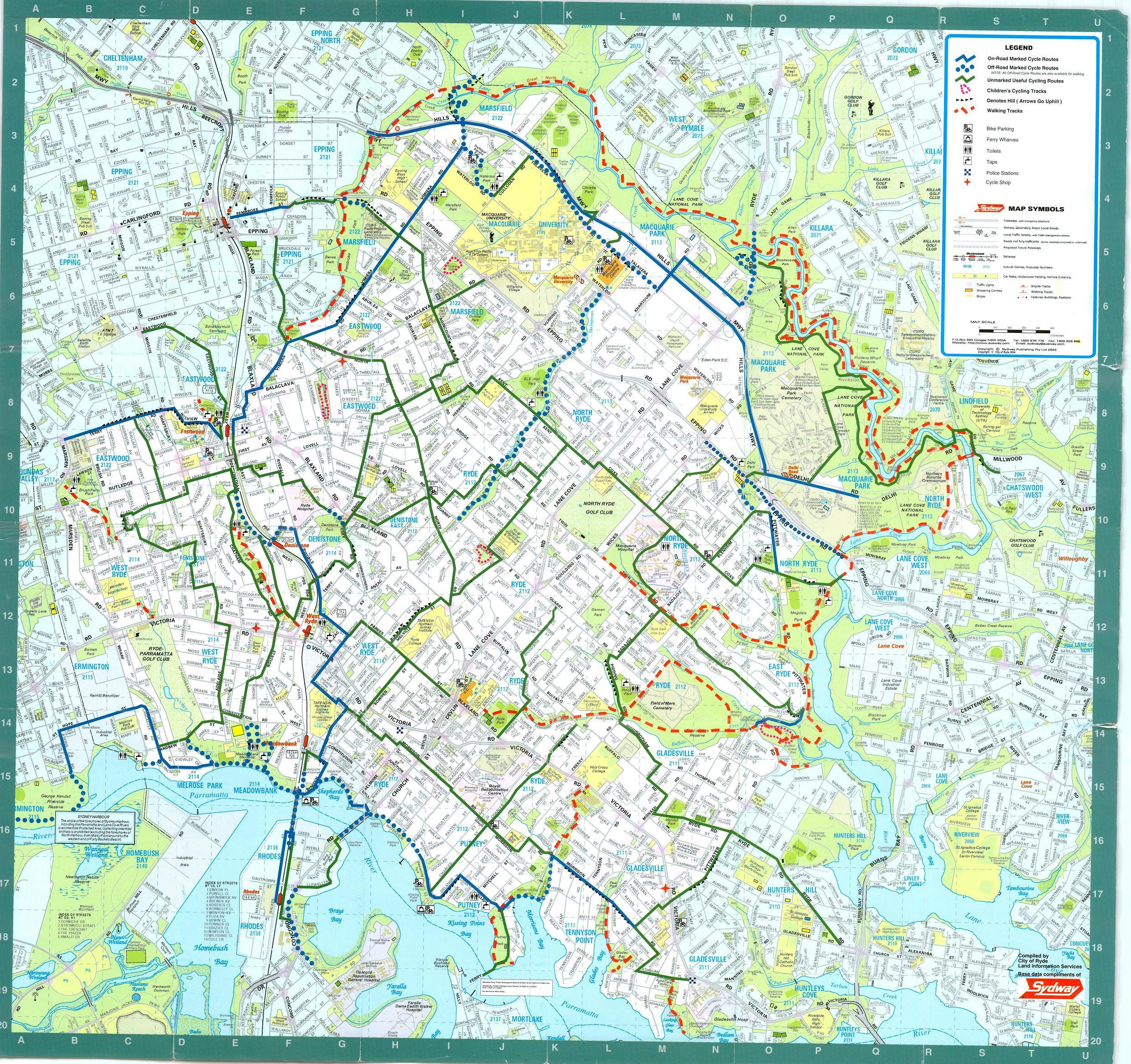 Sydney Bike Map Sydney mappery – Sydney Tourist Map