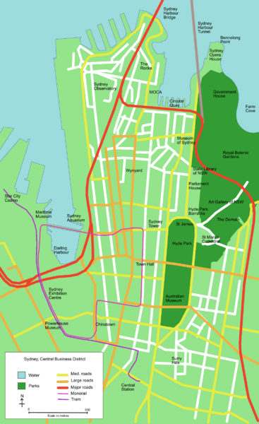 Sydney Central Business District Map