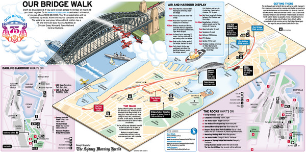 Sydney Harbour Bridge 75th Anniversary Walk Map