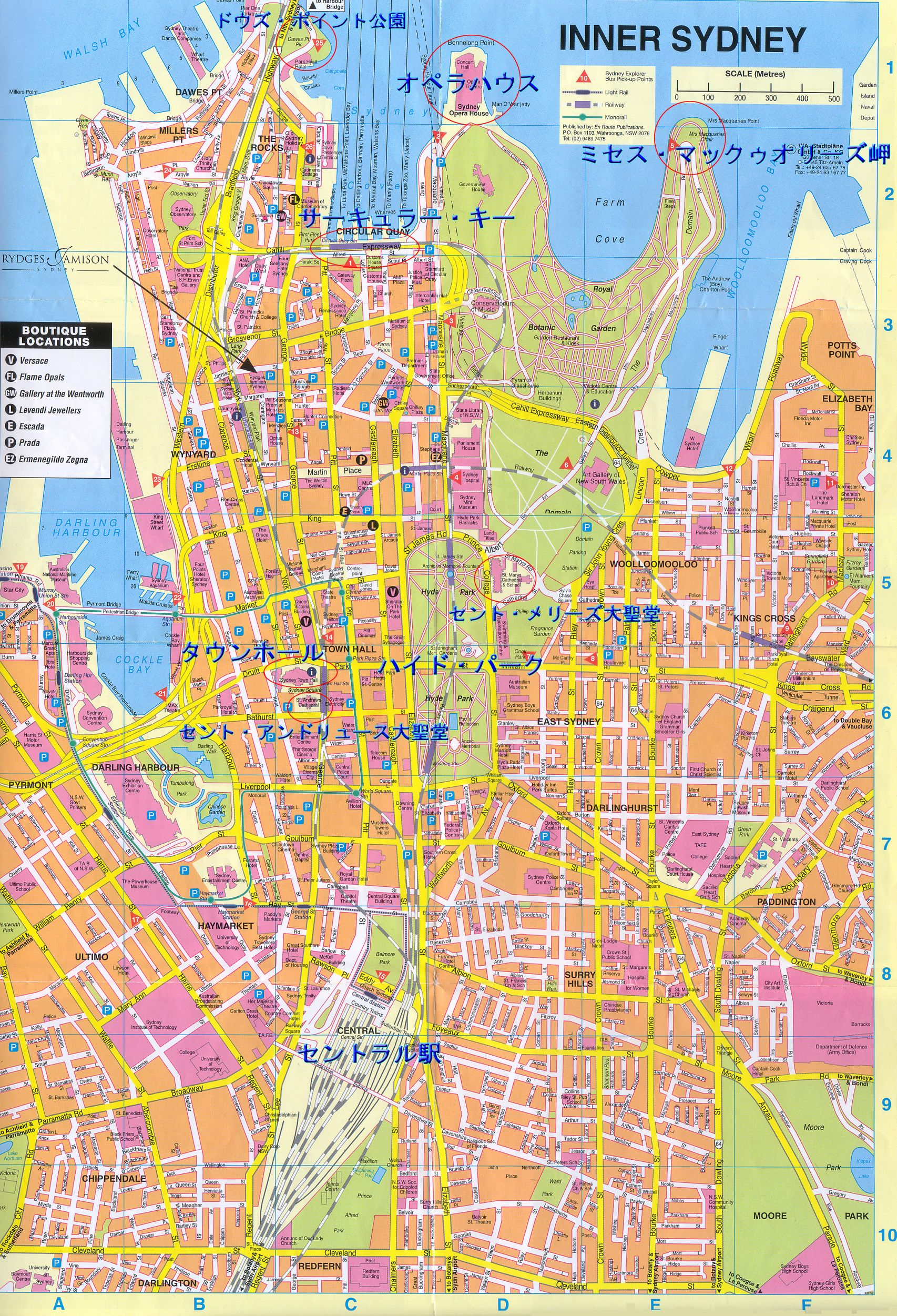 Sydney in Japanese Map Sydney mappery – Tourist Map of Sydney