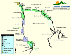 Sylvan Lake State Park Map