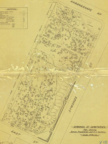 Symonds Street Cemetery - Jewish, Prebyterian and Roman Catholic Map