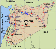 Syria Guide Map