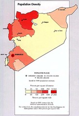Syria Population Density Map