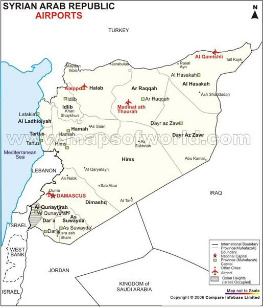 Syria tourist map syria mappery fullsize syria tourist map sciox Gallery