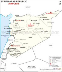 Syria Tourist Map