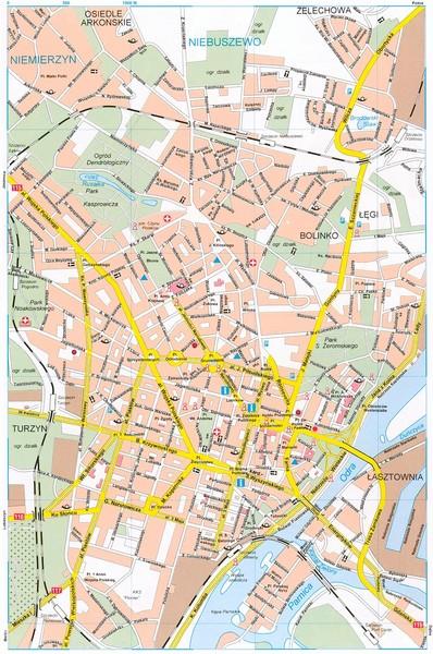 Szczecin Tourist Map Szczecin Poland mappery