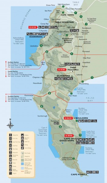 Table Mountain National Park Recreational Map