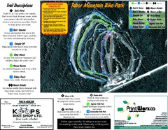 Tabor Mountain 2005–07 Tabor Summer Map