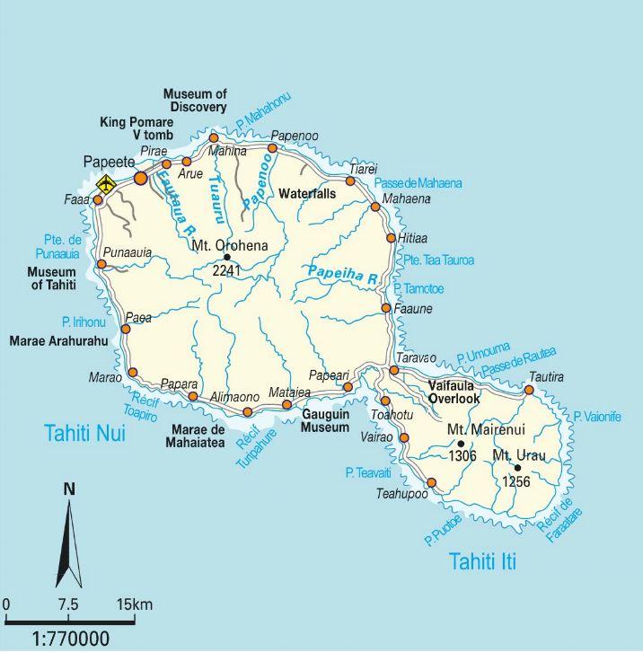 Tahiti Map tahiti mappery