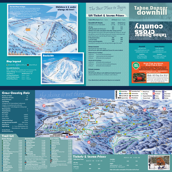 Tahoe Donner Cross Country Ski Trail Map