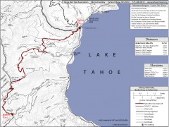 Tahoe Rim Trail: Barker Pass to Tahoe City Map