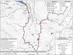 Tahoe Rim Trail: Big Meadow to Echo Lake Map