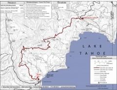 Tahoe Rim Trail: Tahoe City to Brockway Summit Map