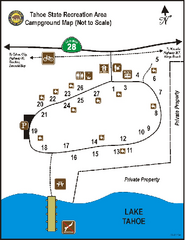 Tahoe State Recreation Area Campground Map