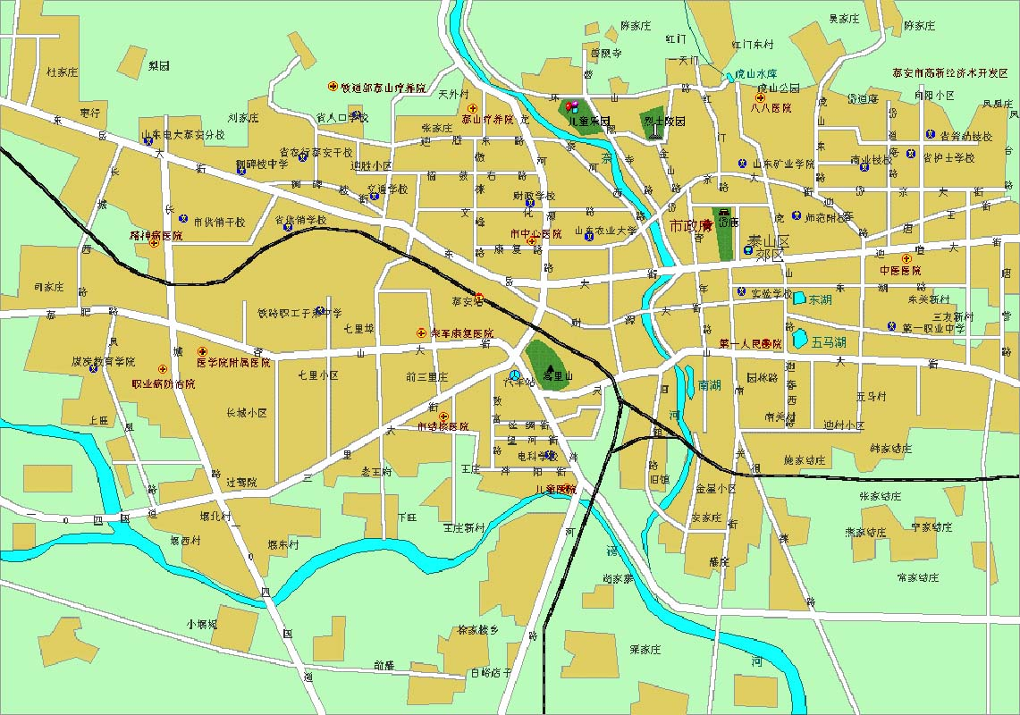 Taian Tourist Map See map details From taian-hotels.com