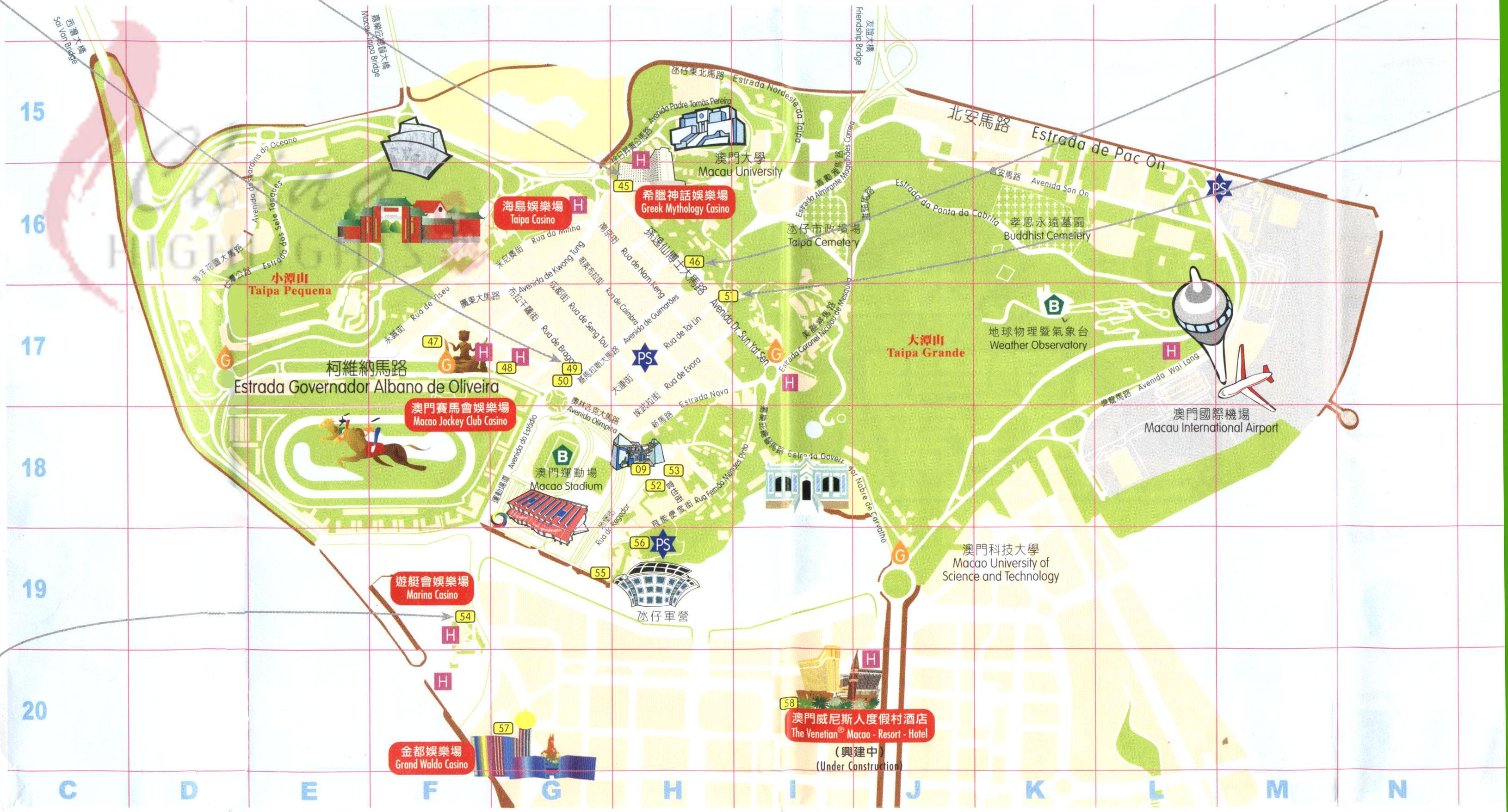 taipa tourist map  taipa macau • mappery -