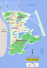 Taipa and Coloane Tourist Map
