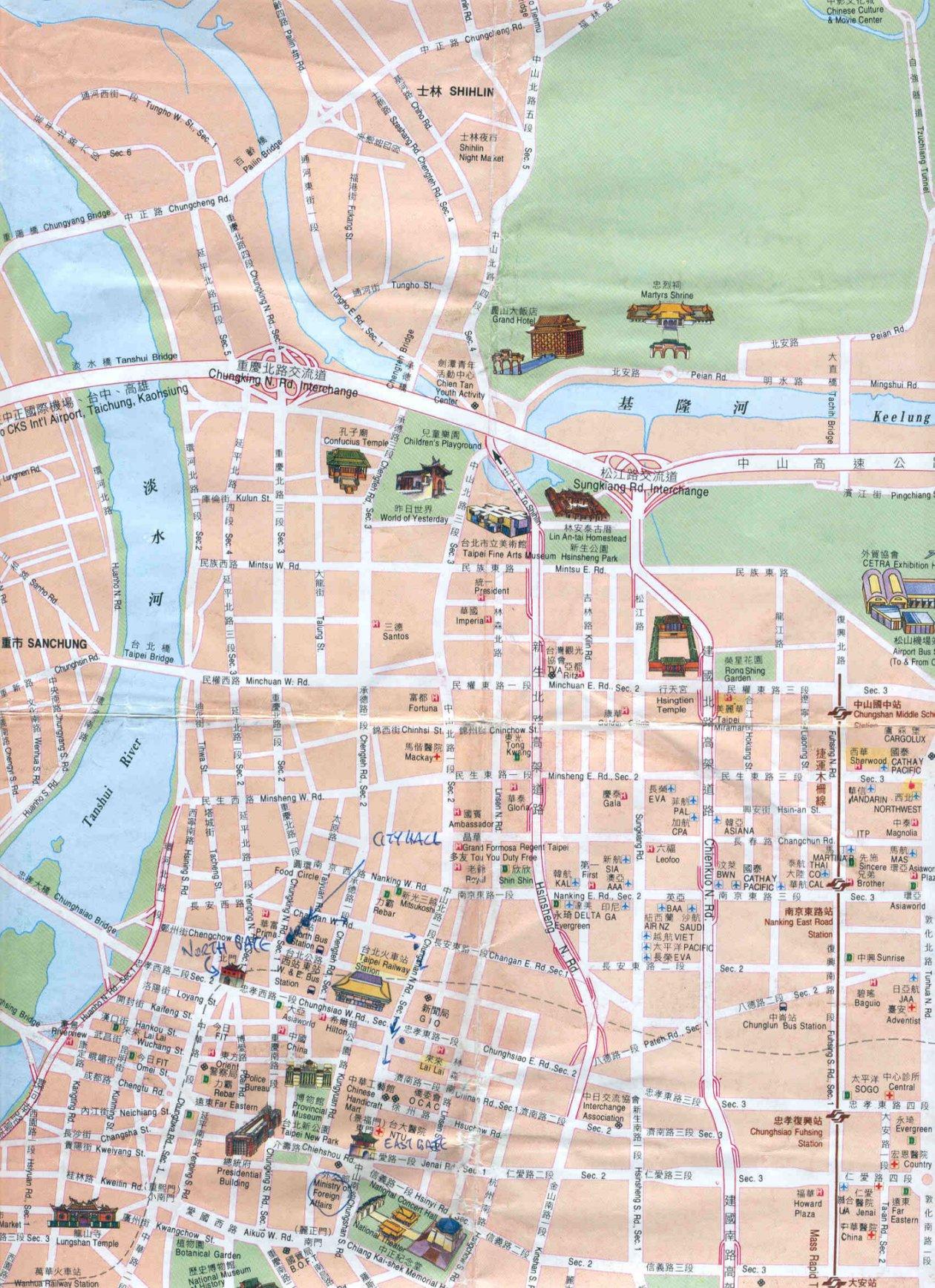 taipei map taipei china mappery