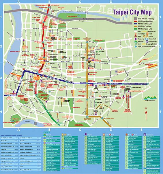 Taiwan maps mappery – Taiwan Tourist Attractions Map