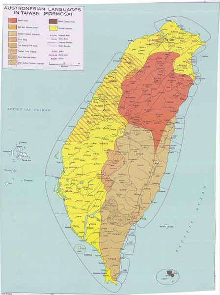 Taiwan Language Map