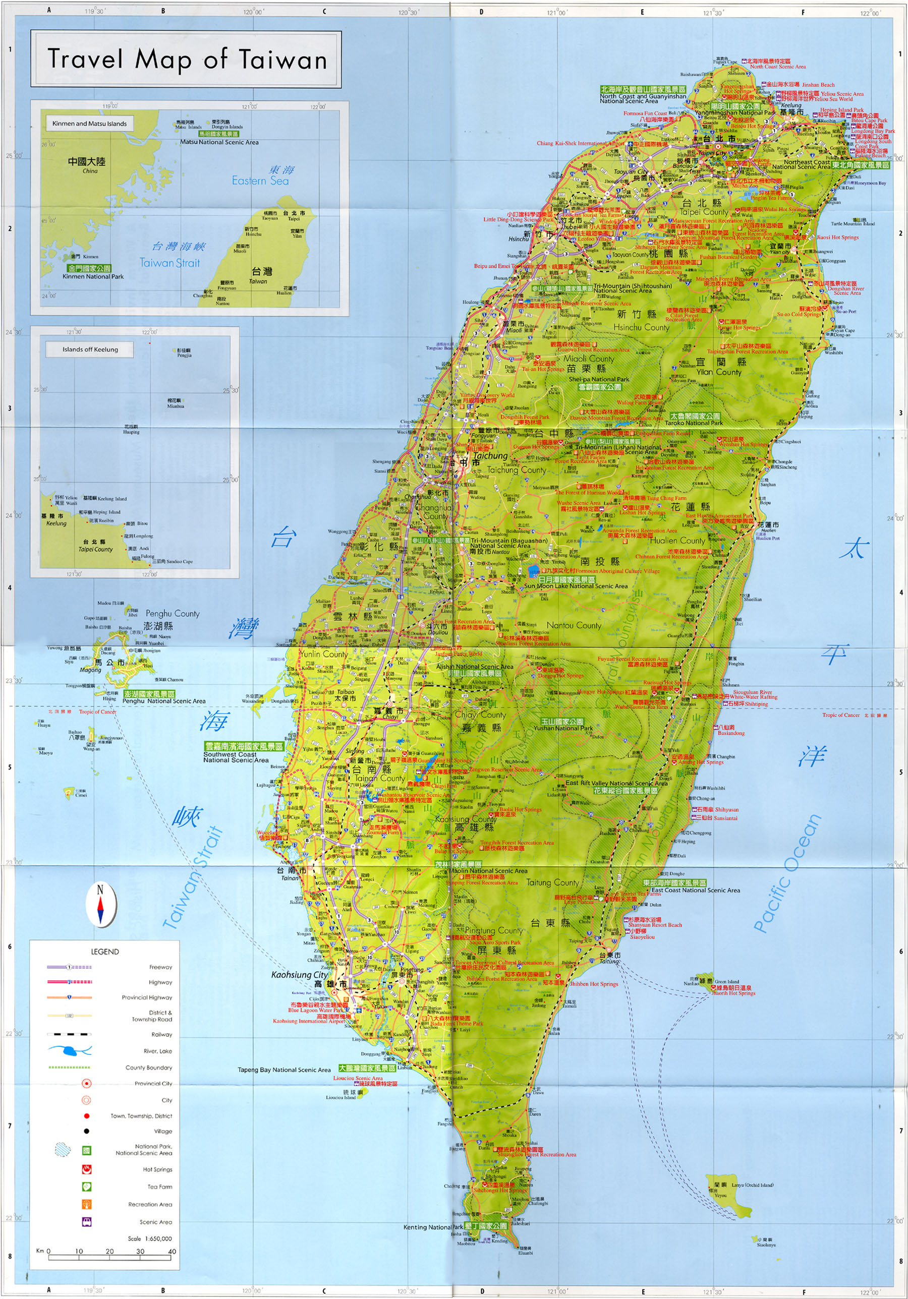 Taiwan Tourist Map - Taiwan • mappery