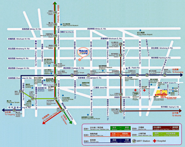 real life map collection mappery – Taiwan Tourist Attractions Map
