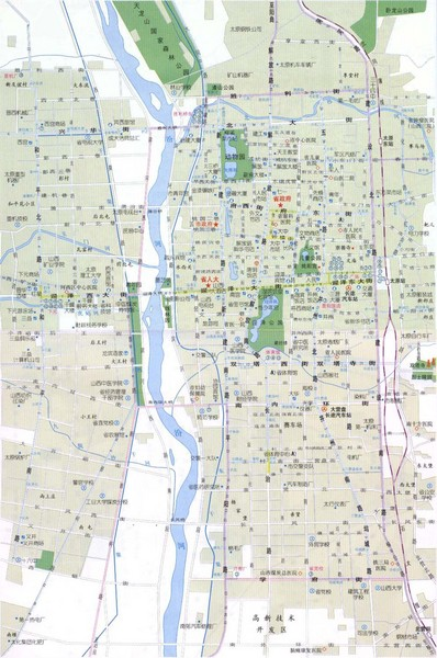 Taiyuan Guide Map