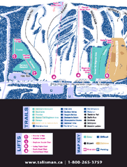 Talisman Mountain Resort Ski Trail Map