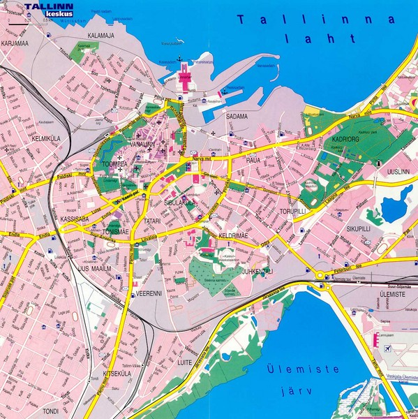 Tallinn City Map Tallinn Estonia mappery