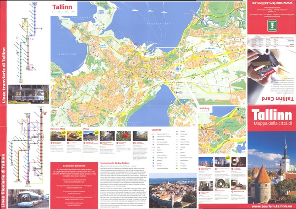 Tallinn Tourist Map Tallinn Estonia mappery