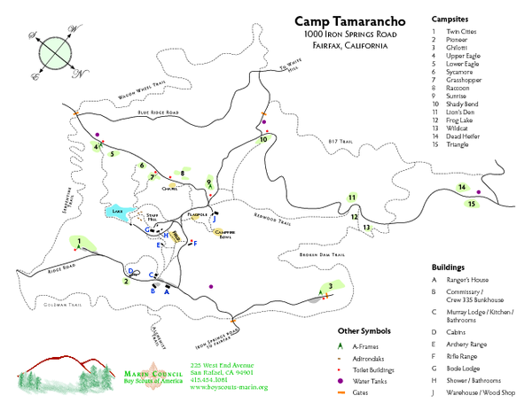 Tamarancho Map - 94930 • mappery on annadel map, lake tahoe map, cache slough map, cache creek map, grouse ridge map, sequatchie valley map, mendocino village map, skyline map, contra costa county ca map, north star village map, port moody map, central valley map,