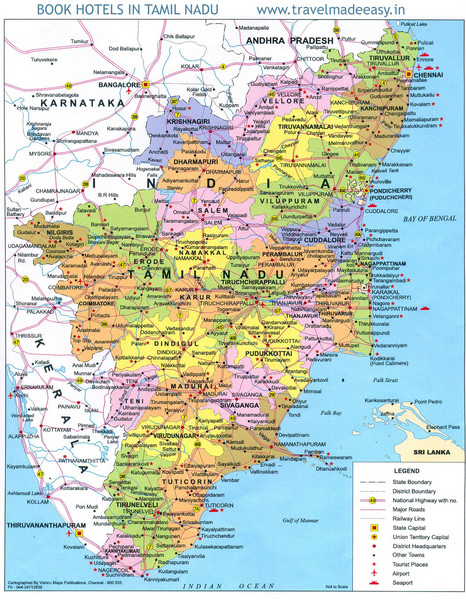 Tamil nadu map mappery fullsize tamil nadu map gumiabroncs Image collections