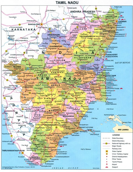 Tamil nadu political map tamil nadu india mappery fullsize tamil nadu political map gumiabroncs Choice Image
