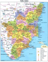 Tamil Nadu Political Map