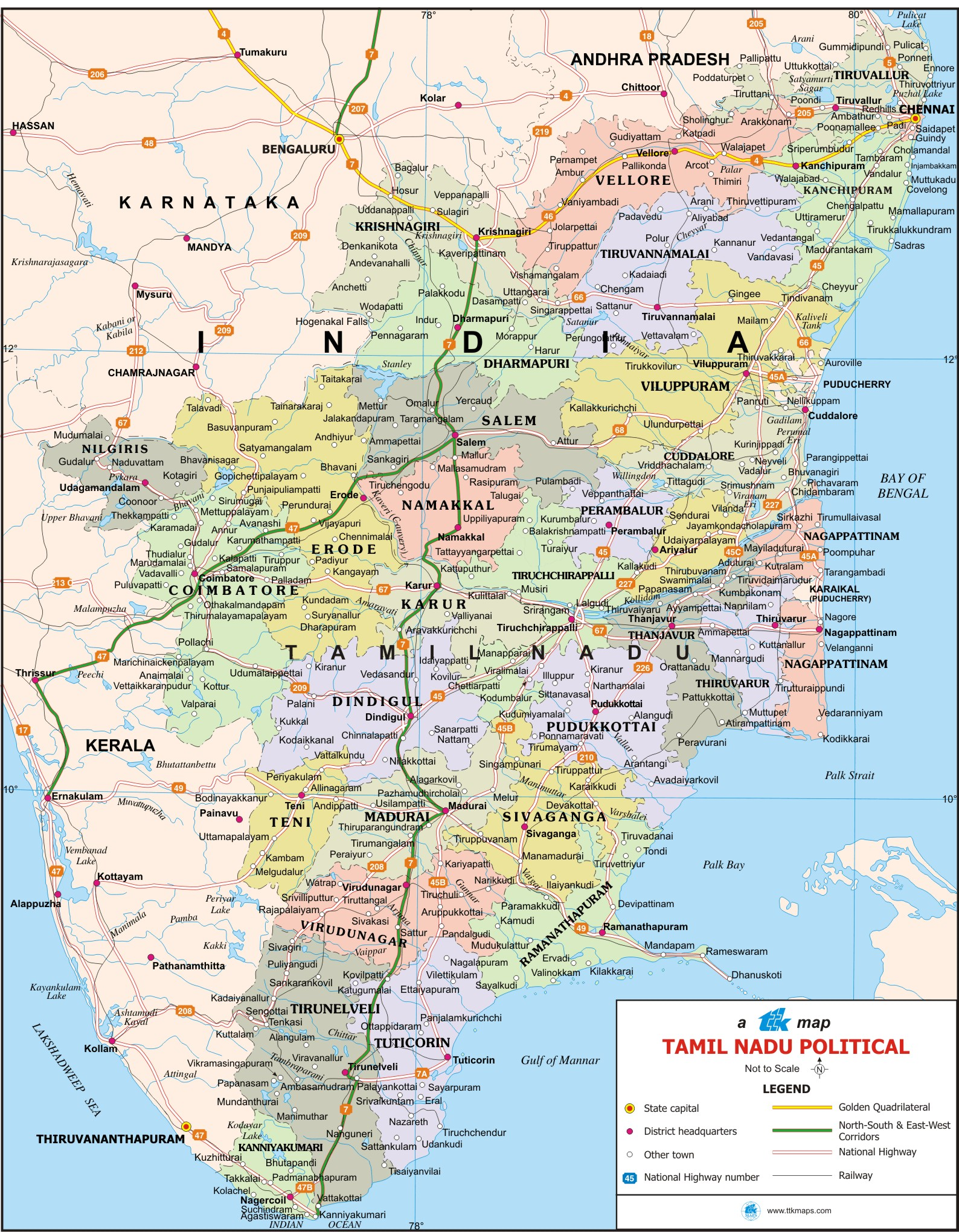 Tamil Nadu India  city photo : Pics Photos Tamil Nadu Political Map India Mappery