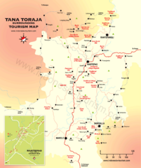 Tana Toraja Tourist Map